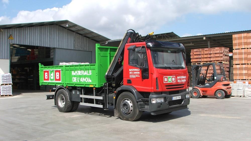 Servei de transport del magatzem de construcció Materials de l'Anoia